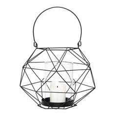 Hubsch lantaarn van metaaldraad - zwart