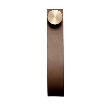 By Lassen Stropp leather wall hook brown-brass
