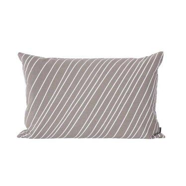 Ferm Living Striped cushion warm grey 40x60