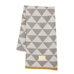 Ferm Living plaid Remix grey-mustard yellow