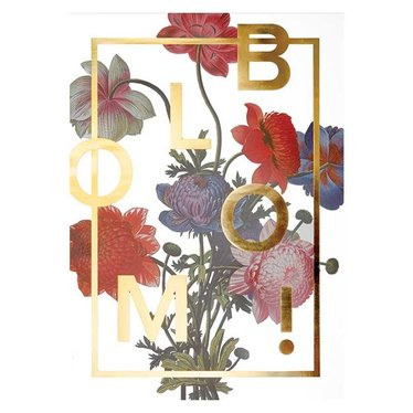 I Love My Type Poster Bloom! Power Flower 50x70