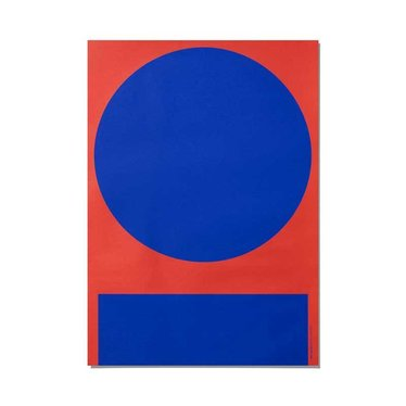 Playtype Poster Macrography i   rood-blauw