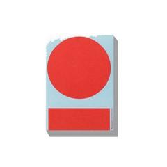 Playtype Macrography 1 Postcard block rood-blauw