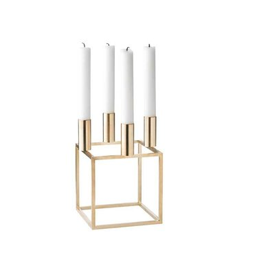 By Lassen Candle holder Kubus 4 brass