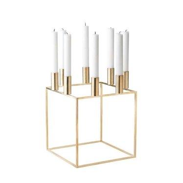 By Lassen Candlestick Kubus 8 brass