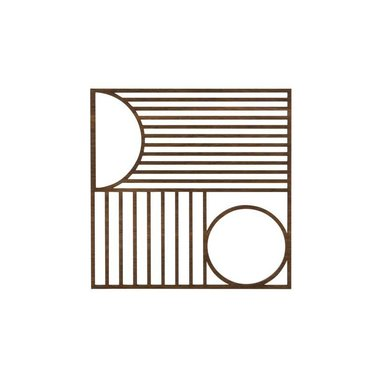 Ferm Living Houten onderzetter Outline vierkant