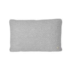 Ferm Living quilted cushion light grey 60x40