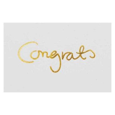 I Love My Type mini kaartje | gift tag Congrats (pakje van 8)