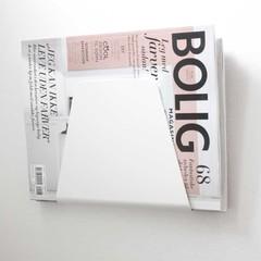 Nur tijdschriftenhouder Curve wit