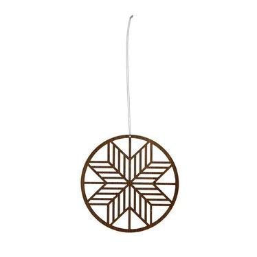 Ferm Living Kerstdecoratie Wooden Crystal klein