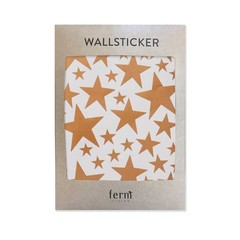 Ferm Living wall stickers Mini Stars copper