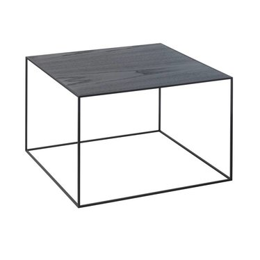 By Lassen Twin 49 table cool gray-black stained ash