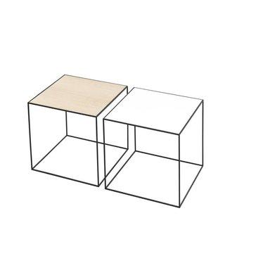 By Lassen Twin 35 black table white-oak