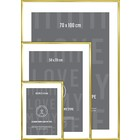 I Love My Type changing frame aluminum-brass 70x100 cm
