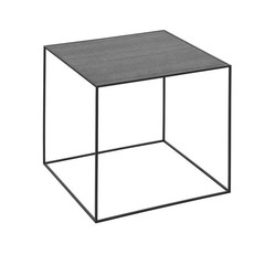 By Lassen bijzettafel Twin 42 table zwart essen-grijs