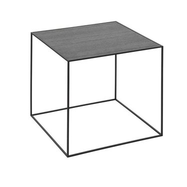 By Lassen Side table Twin 42 black stained ash-grey