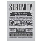 I Love My Type Serenity grey poster