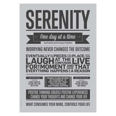 I Love My Type Poster Serenity grey