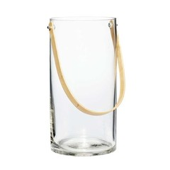 Hubsch glazen vaas met bamboe hengsel