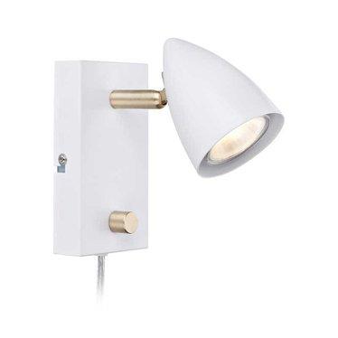 Markslöjd Wall light Ciro white-brass