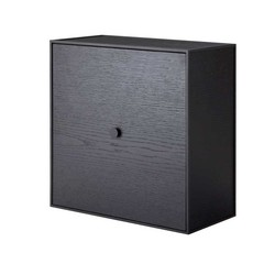 By Lassen Frame 42 kast met deur - black stained ash