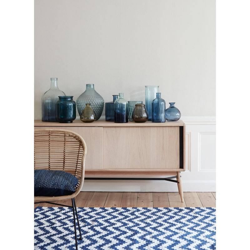 Kussen Blauw Wit.Hubsch Donkerblauw Wit Kussen Kopen Sale Nordic Blends