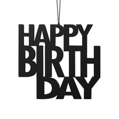 Felius hanger Happy Birthday 2-pack zwart
