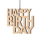 Felius hanger Happy Birthday 2-pack eiken