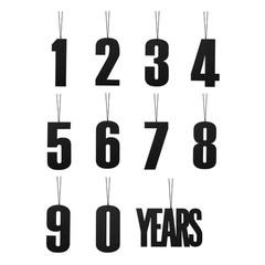Felius hanger 0-9 Years 11-pack zwart