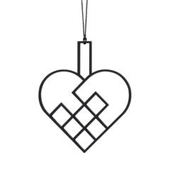 Felius hanger Hearts open - 2-pack zwart