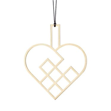 Felius hanger Hearts open -  messing 2-pack