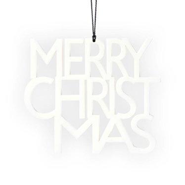 Felius hanger Merry Christmas 2-pack wit
