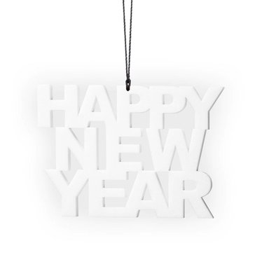 Felius hanger Happy New Year 2-pack wit