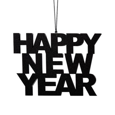 Felius hanger Happy New Year 2-pack zwart