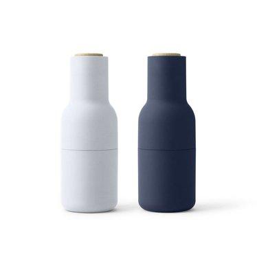Menu pepper and salt mills Bottle Grinder Classic Blue, 2-pack
