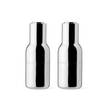 Menu Pepper and salt mills Bottle Grinder - shiny stainless steel, 2-pack
