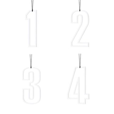Felius hangers Advent 1-2-3-4 wit