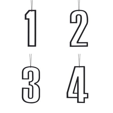 Felius hangers Advent 1-2-3-4 zwart