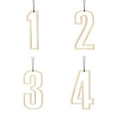 Felius hangers Advent 1-2-3-4 messing