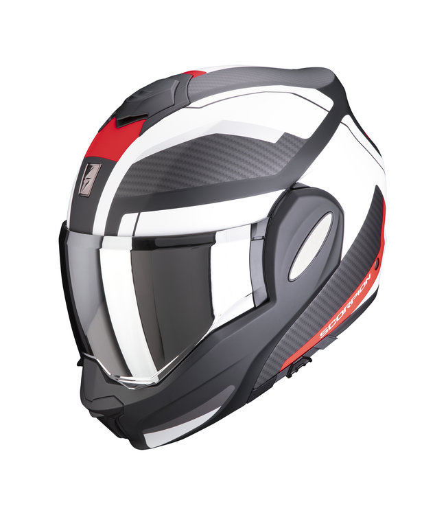 Scorpion EXO-TECH TRAP MATT BLACK RED WHITE