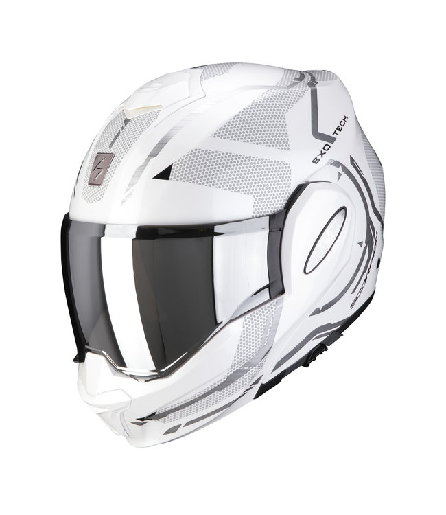 Scorpion EXO-TECH SQUARE PEARL WHITE-SILVER