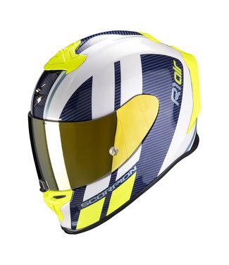 Scorpion EXO-R1 AIR CORPUS White-Blue-Neon Yellow