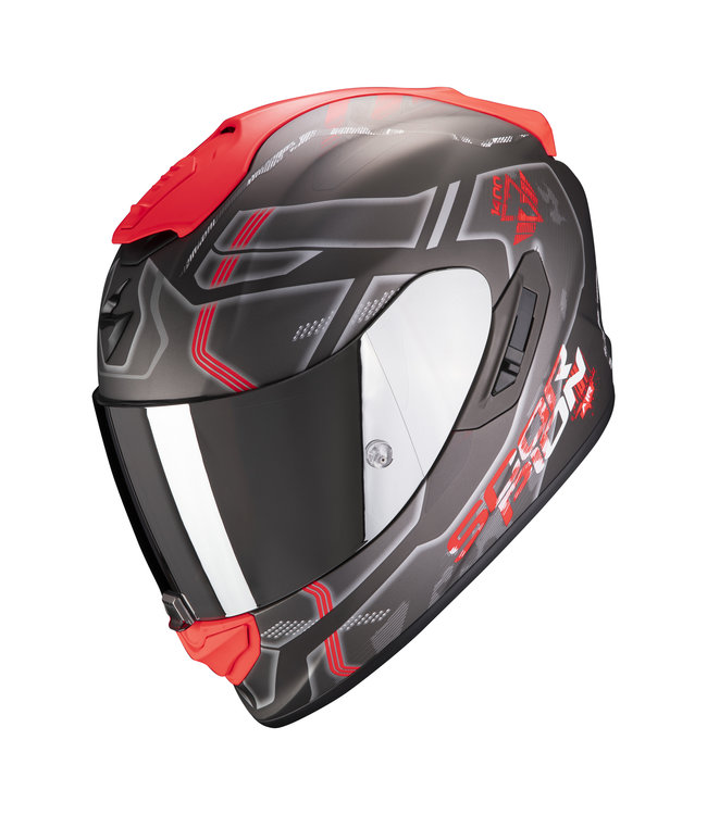 Scorpion EXO-1400 AIR SPATIUM MATT SILVER-RED