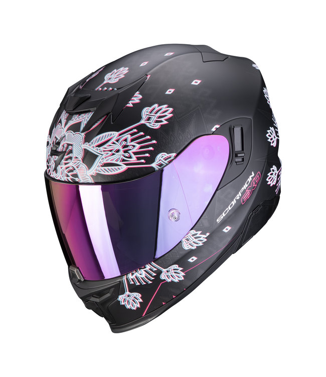 Scorpion EXO-520 AIR TINA MATT BLACK-SILVER