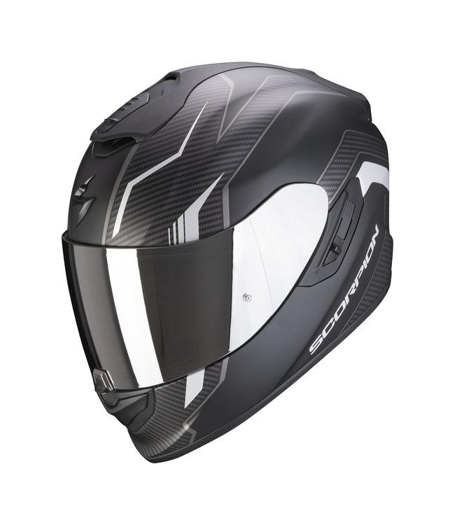Scorpion EXO-1400 AIR FORTUNA MATT BLACK SILVER