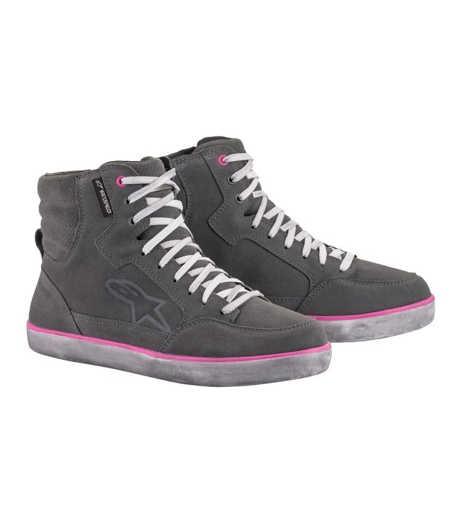 Alpinestars J 6 WATERPROOF WOMENS LIGHT GRAY FUCHSIA