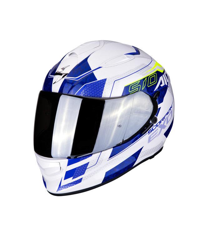 Scorpion EXO-510 AIR GALVA PEARL WHITE/BLUE