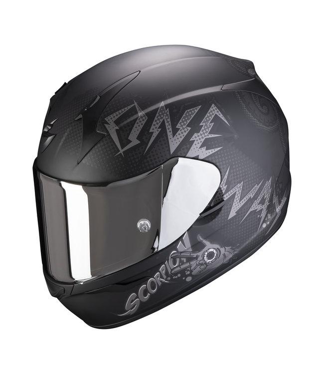 Scorpion EXO-390 ONEWAY MATT BLACK SILVER