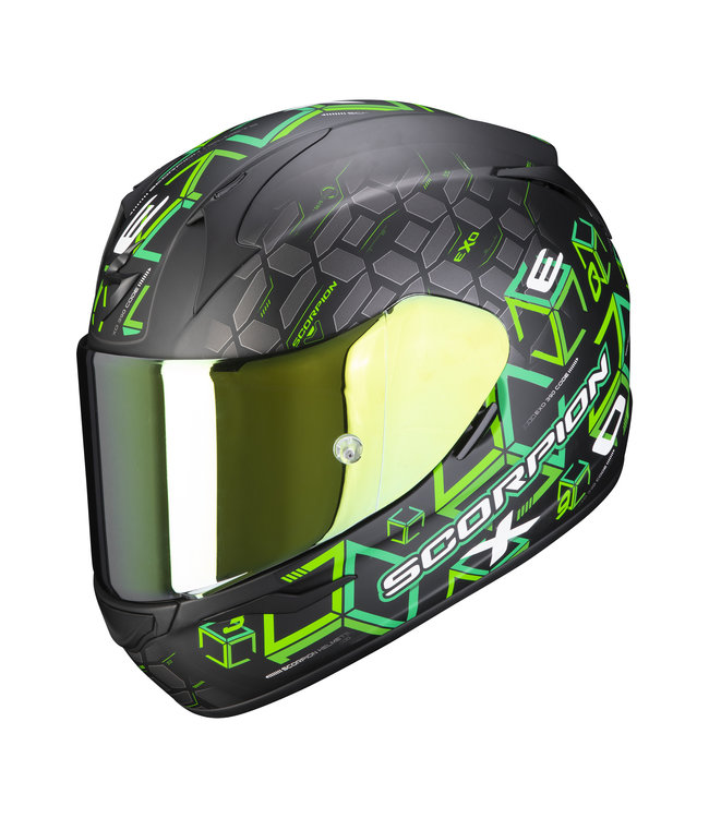 Scorpion EXO-390 CUBE MATT BLACK GREEN
