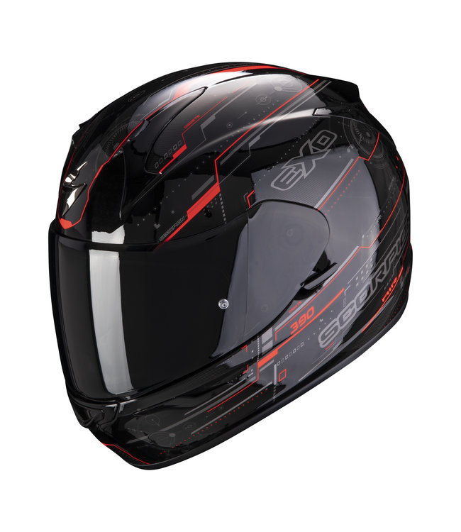 Scorpion EXO-390 BEAT BLACK RED FLUO